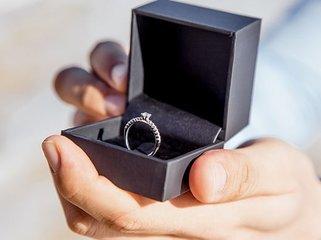 Zilveren-verlovingsring