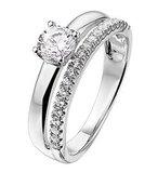 Zilveren ring met zirkonia_