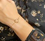 Armband rondjes 1,2 mm 16 + 2,5 cm_