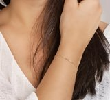 Armband balkje 1,1 mm 16,5 - 18,5 cm_
