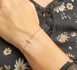 Armband kruis zirkonia 1,3 mm 15,5 + 2,5 cm_