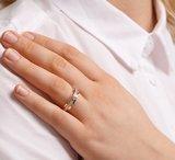 Ring diamant 0.22ct H SI_