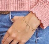 Armband rondjes 1,2 mm 16,5 + 2,5 cm_