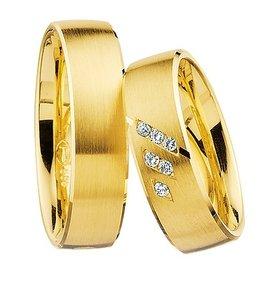 Gematteerde ringen geelgoud