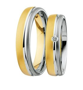 Ring met steen in 2 kleuren / Bicolor Trouwringen