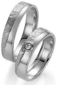 Verlovingsringen in het zilver