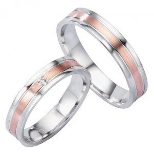 Verlovingsringen goud met zilver