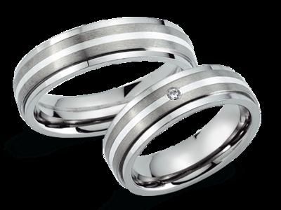 Titanium Ringen met Zilver