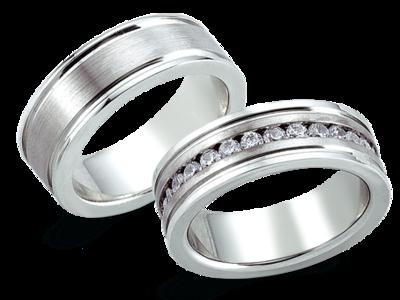Edelstalen trouwring
