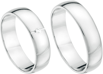Glanzende witgouden ringen