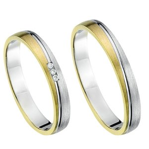 Goud/zilver trouwringen