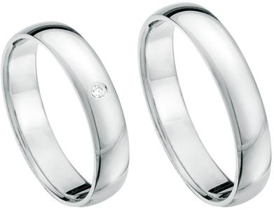 Simpele ringen witgoud