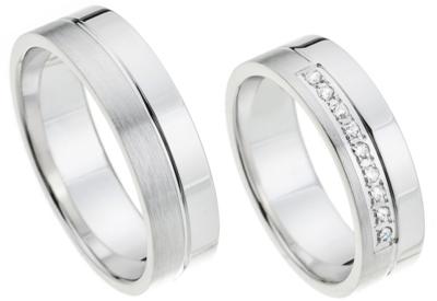 Ring witgoud diamant