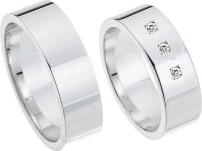 Ring witgoud modern