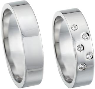 Glanzende ring witgoud