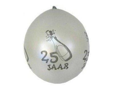 ballon 25 jaar zilver