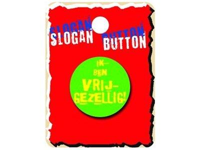 Slogan Button Vrij Gezellig