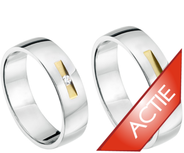 Bicolor gouden ringen
