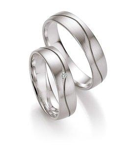 Witgouden ringen met gratis briljant