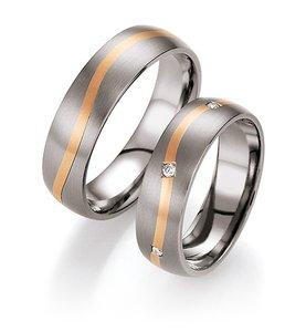 Titanium Ringen met Goud