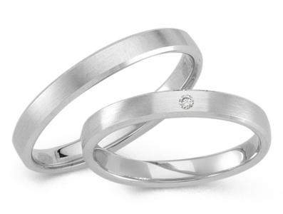 Klassieke witgouden ring