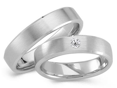 Klassieke ring witgoud