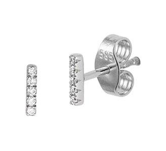 Witgouden oorknoppen  diamant