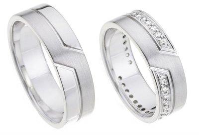 Glimmende ringen witgoud