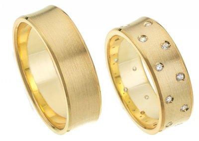 Ringen geelgoud met briljanten