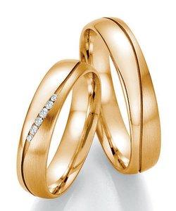 Geelgouden chique trouwringen