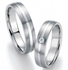 Moderne ring witgoud