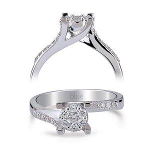 Verlovingsring met meerdere briljanten