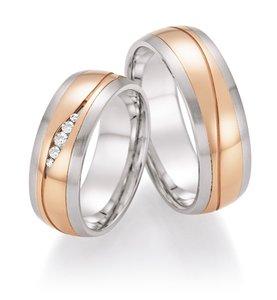 Gouden ringen met staal