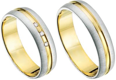 Goud met zilveren ringen