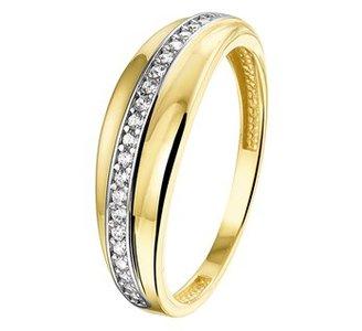 Ring geel goud zirkonia