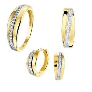Bruidsset geel goud zirkonia