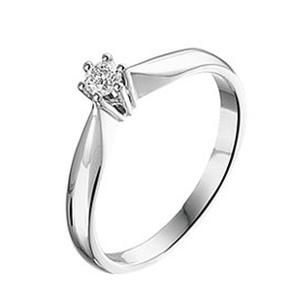 Witgouden Verlovingsring Diamant