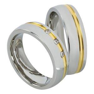 Stalen Ringen Bicolor