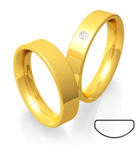 Tijdloze geelgouden ring