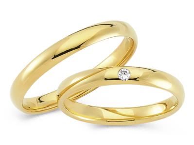 Klassieke Ringen Geelgoud mat of glanzend