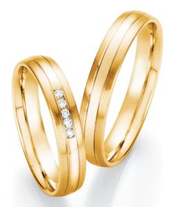 Geelgouden dames trouwringen