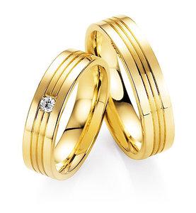 Dames en heren ringen geelgoud
