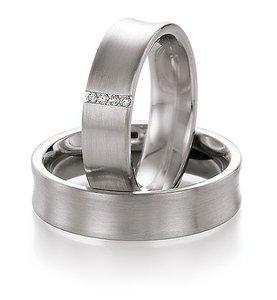 Platina ringen met diamant