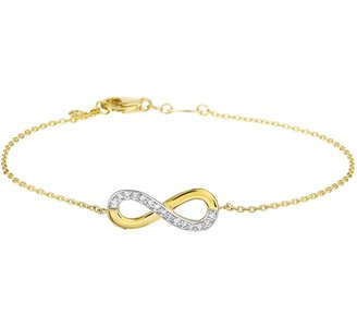 Armband infinity zirkonia 1,0 mm 17,5 + 1 cm