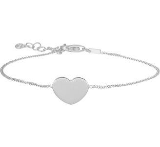 Armband hart 1,0 mm 16,5 + 2,5 cm