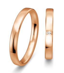 Rose gouden trouwringen 3mm