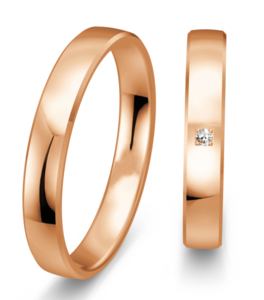 Rose gouden trouwringen 3,5 mm
