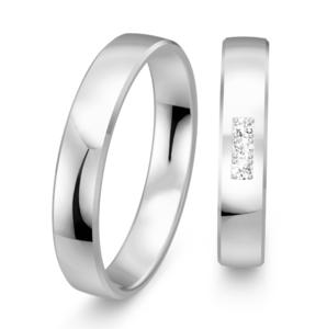Klassieke witgouden ringen glanzend
