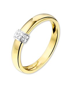 Ring diamant 0.06ct H SI