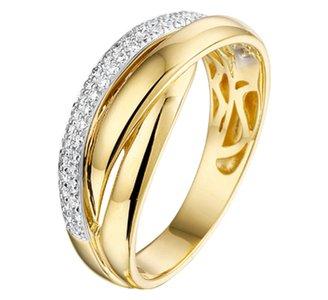 Ring diamant  0.21ct H SI